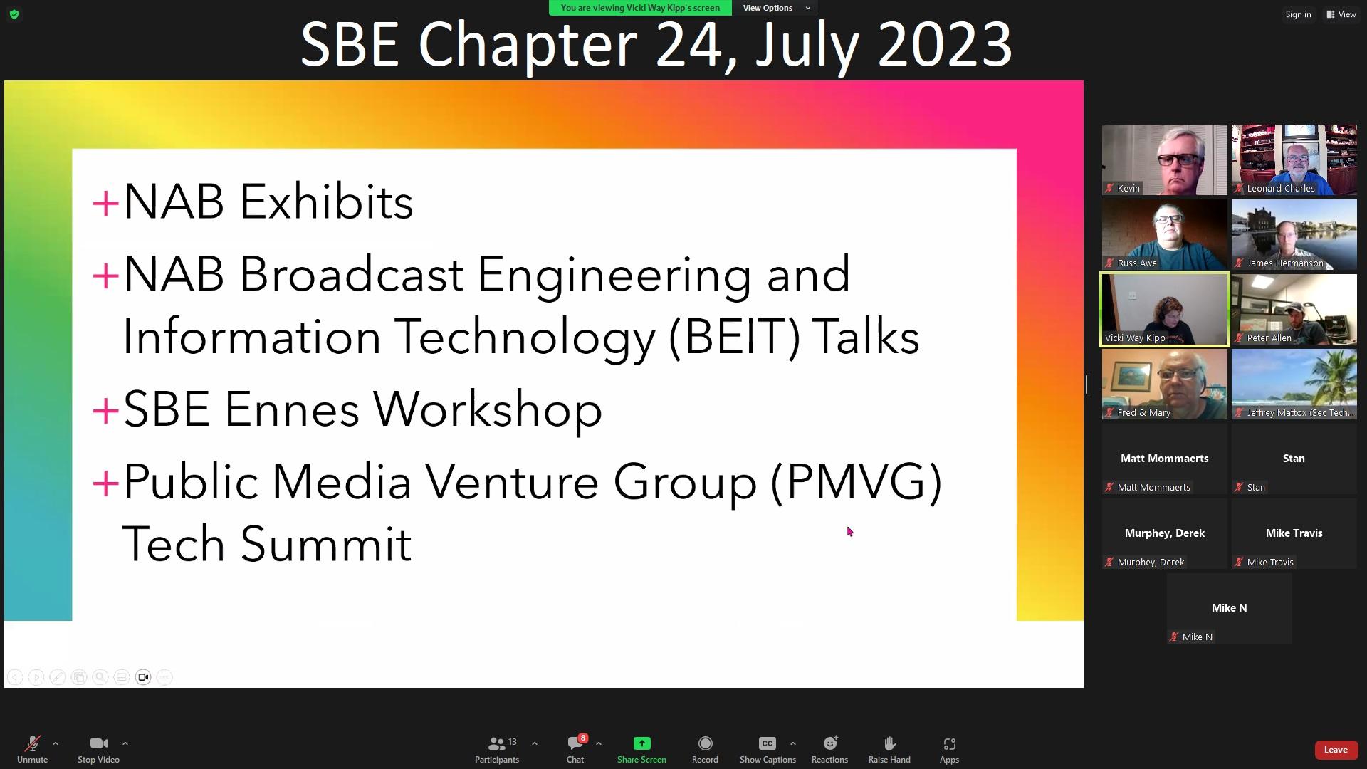 SBE 24 Programs Archive